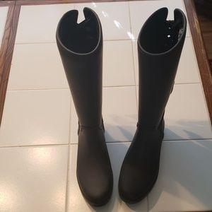 "Coach black ""Tristee"" rain boots"
